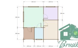 Деревянная сауна план