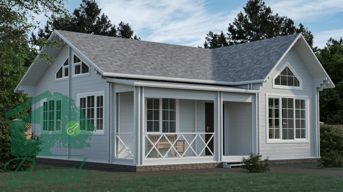 Дом с большими потолками