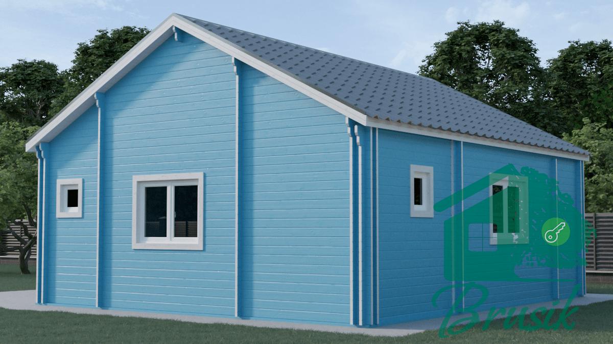 Дом с террасой из бруса