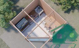 Планировка садового домика