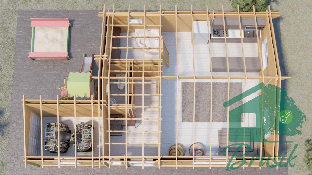 Планировка дома из дерева