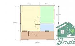 План дома для базы отдыха