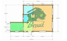 План дома из дерева