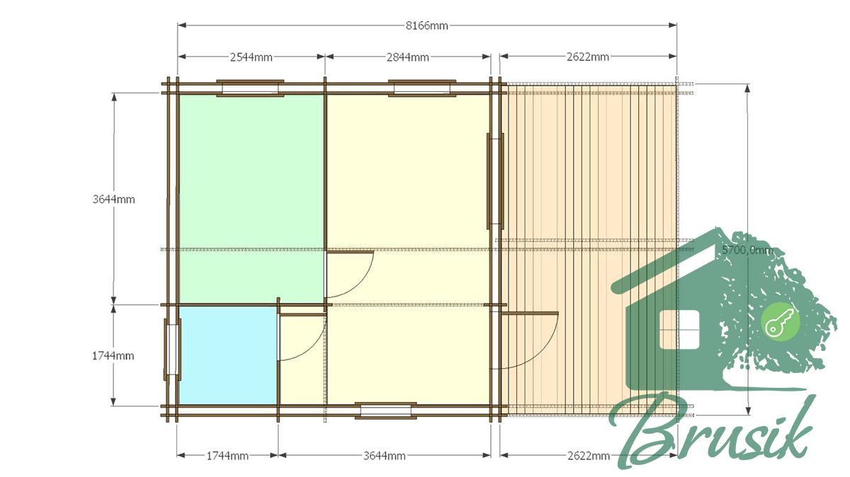 План дома с террасой